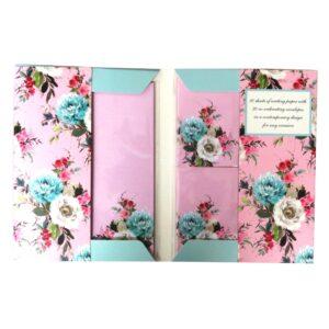 Writing Set Vintage Floral Front 3
