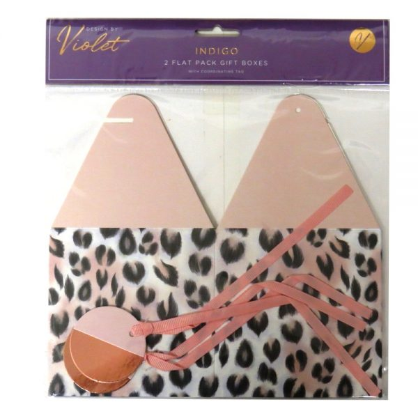 Flat Pack Gift Boxes Indigo Front