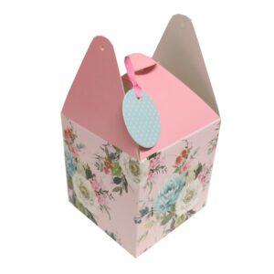 Flat Pack Gift Boxes Vintage Floral Front 2