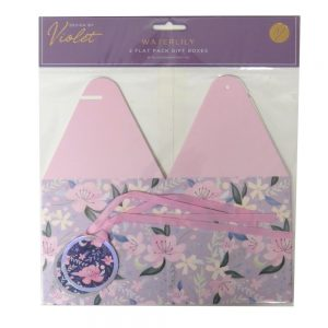 Flat Pack Gift Boxes Waterlily Front