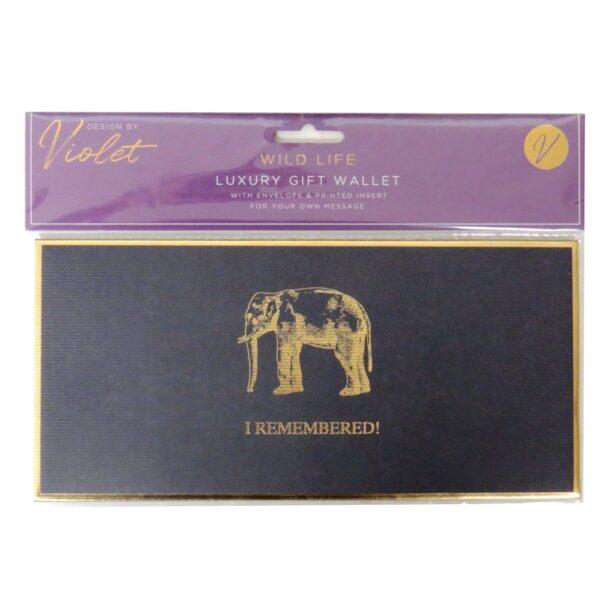 Luxury Gift Wallet Wildlife Front