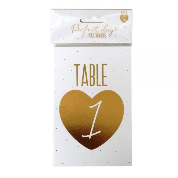 Wedding Day Table Number Cards Front