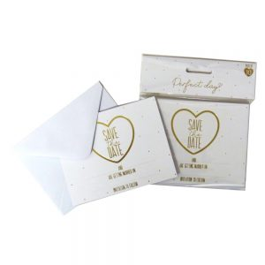 Save the Date Wedding Cards and Envelopes, 10 Pack by Perfect Day