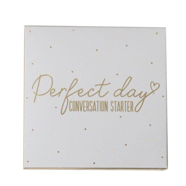 Wedding Day Conversation Starter Cards Front