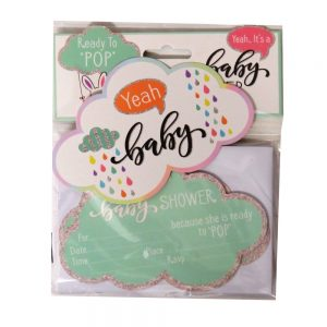 Baby Shower Invitation Cards and Envelopes Front 2