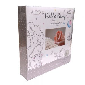 Baby Photo Album Hello Baby Front 3