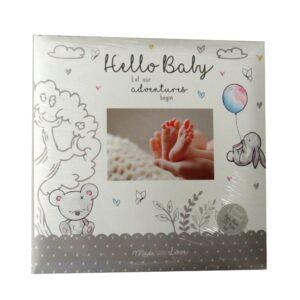 Baby Photo Album Hello Baby Front