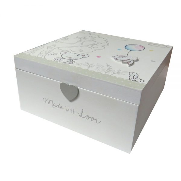 Baby Keepsake Wooden Box Front