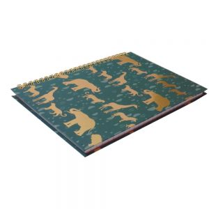 A5 Totally Fierce Wirebound Notebook Safari Front 2