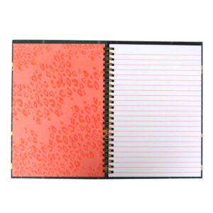 A5 Totally Fierce Wirebound Notebook Safari Front 3