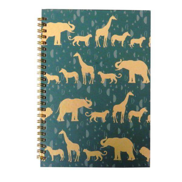 A5 Totally Fierce Wirebound Notebook Safari Front