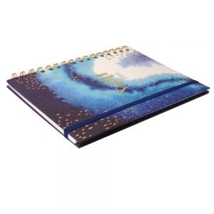 A5 Opulent Geo Wirebound Notebook with Elastic Closure, Take Notes