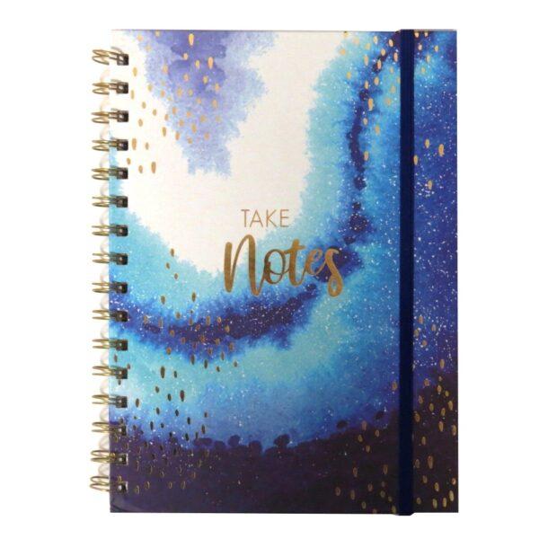 A5 Opulent Geo Wirebound Notebook Front