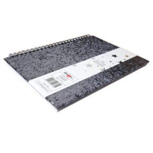 A5 Glitter Glamour Wirebound Notebook Front 2