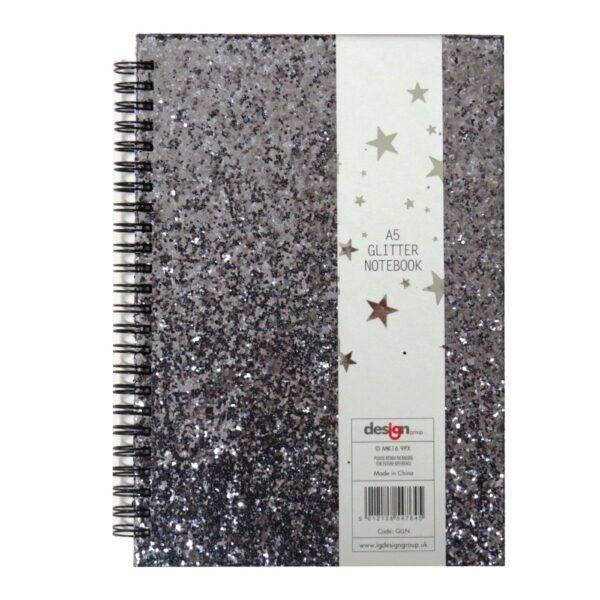 A5 Glitter Glamour Wirebound Notebook Front