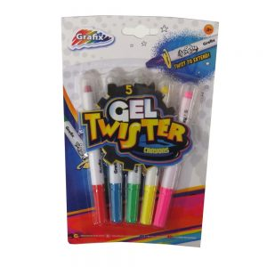 Gel Twister Crayons Pack of 5