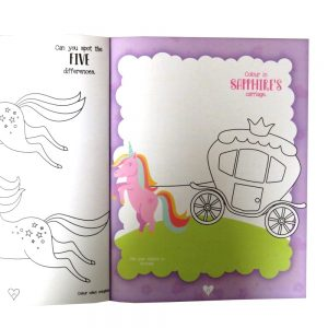 Unicorn Sticker and Activity Book Front 3