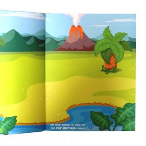 Grafix Large Dinosaur Colourful Sticker and Activity Book, with 150 Stickers