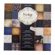 Craft Sensations 30.5cm Design Card Pad Vintage Textures Front