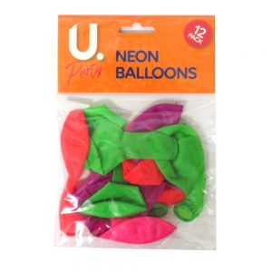 Neon Balloons Pack of 12