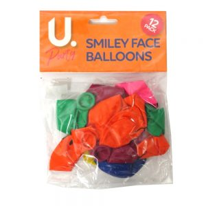 Smiley Face Balloons Pack of 12