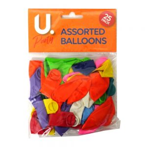 Assorted Balloons Pack of 25
