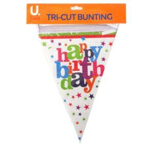 Happy Birthday Tri Cut Bunting