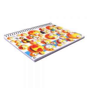 A5 Emoji Spiral Notebook Plastic Cover Front 3