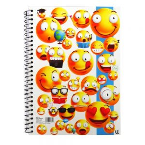 A5 Emoji Spiral Notebook Plastic Cover