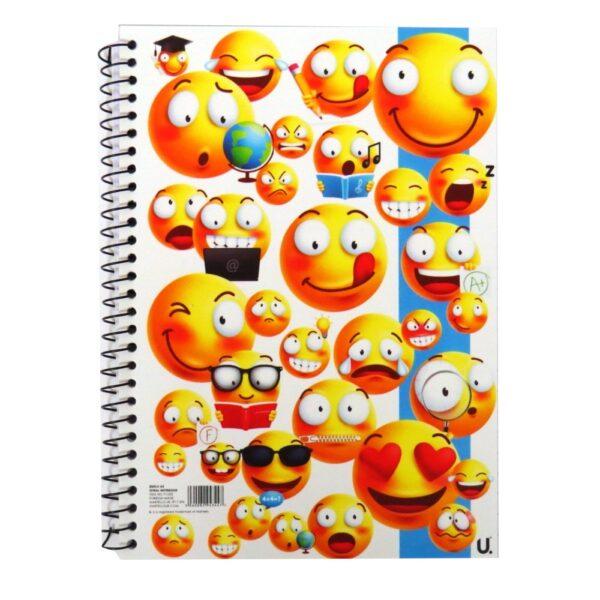 A5 Emoji Spiral Notebook Plastic Cover