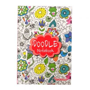 A5 Doodle Notebook Red