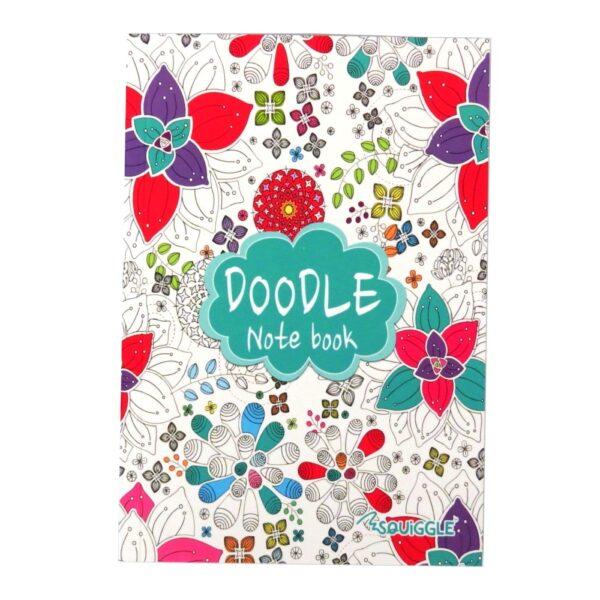 A5 Doodle Notebook Green