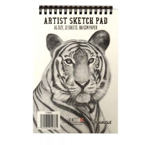 A5 WIREBOUND ARTISTS SKETCHBOOK TIGER CVR
