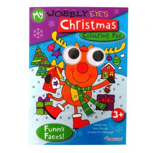 WOBBLY EYES CHRISTMAS COLOURING BOOK FUNNY FACES