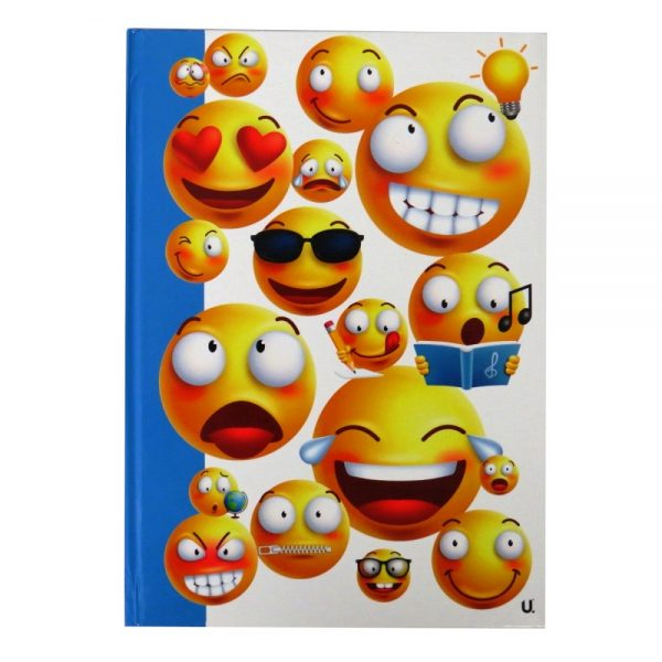 A4 EMOJI HARDBACKED NOTEBOOK EXPRESSIONS Front