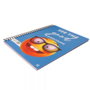 A5 EMOJI SPIRAL NOTEBOOK - SEE THE GOOD Front 2