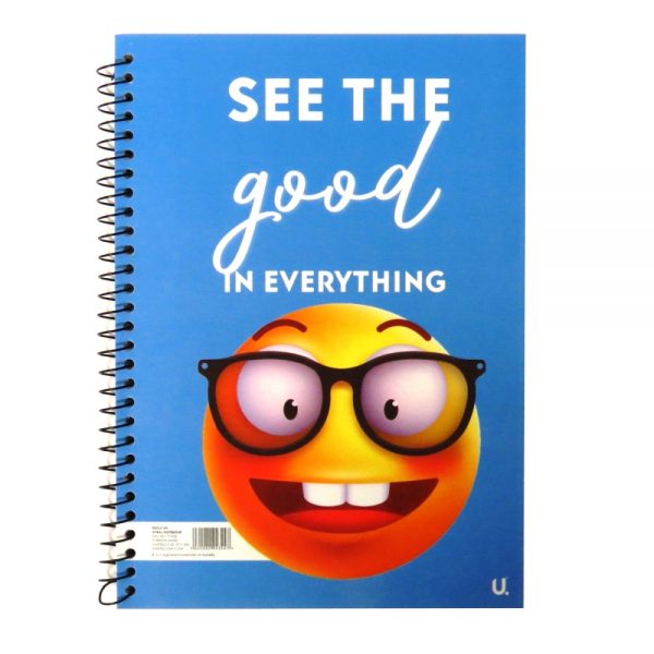 A5 EMOJI SPIRAL NOTEBOOK - SEE THE GOOD