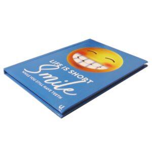 A5 EMOJI HARDBACKED NOTEBOOK SMILE Front 2