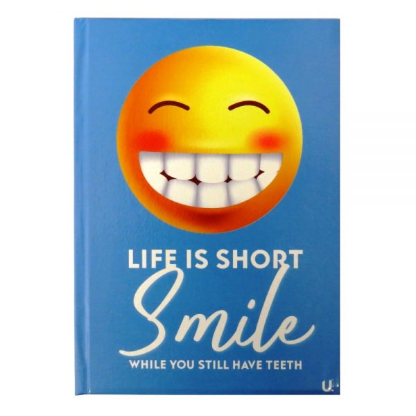 A5 EMOJI HARDBACKED NOTEBOOK SMILE