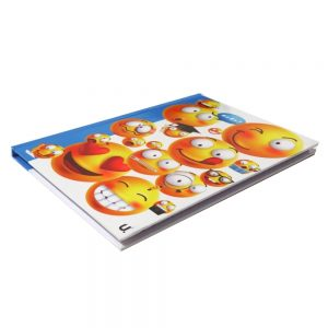 A5 EMOJI HARDBACKED NOTEBOOK - EXPRESSIONS Front 2