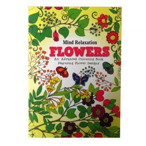 ADVANCED COLOURING BOOK FLOWERS P2906A