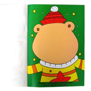 CHRISTMAS FUNNY FACES STICKER BOOK - P2791 - Front 3