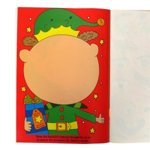 CHRISTMAS FUNNY FACES STICKER BOOK - P2791 - Front 4