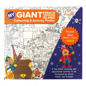 MY GIANT COLOURING AND ACTIVITY POSTER - PIRATE TREASURE ISLAND