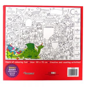 MY GIANT COLOURING AND ACTIVITY POSTER - MAGIC CASTLE - P2830 - Front 2