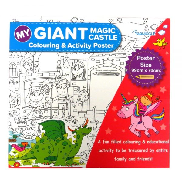 MY GIANT COLOURING AND ACTIVITY POSTER - MAGIC CASTLE