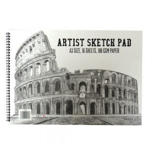 A3 ARTISTS SKETCH PAD 180GSM CARTRIDGE COLOSSEUM CVR
