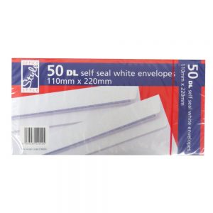 OFFICE STYLE DL ENVELOPES - 50 PACK