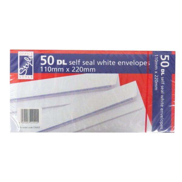 OFFICE STYLE DL ENVELOPES - 50 PACK