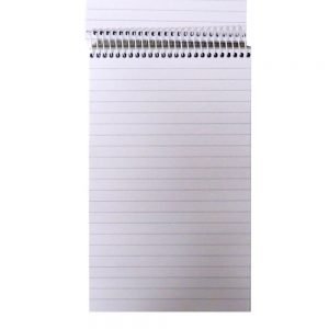 OFFICE STYLE REPORTERS FLIP TOP NOTEPAD 300 PAGES STA300R Front 3
